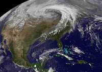 This NASA GOES satellite image shows a storm sweeping across the center of the United States on Oct. 26 and 27, 2010. (Credit: NASA GOES Project Science Office) Click to Enlarge.