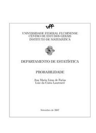 Probabilidade (Ana Maria Lima de Farias e Luiz da Costa Laurencel)