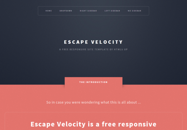 Free High Quality Responsive HTML5 and CSS3 Templates
