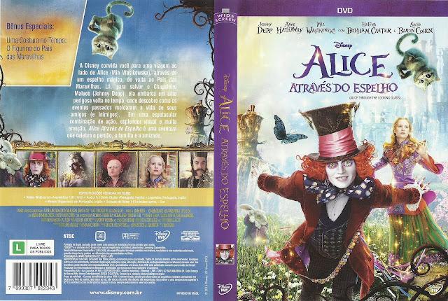 Capa DVD Alice Através do Espelho