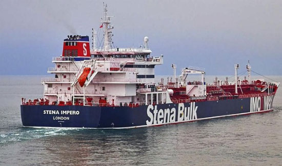 Illustration - British-flagged tanker, Stena Imperio, now detained by Iran (Stena Bulk via AP)