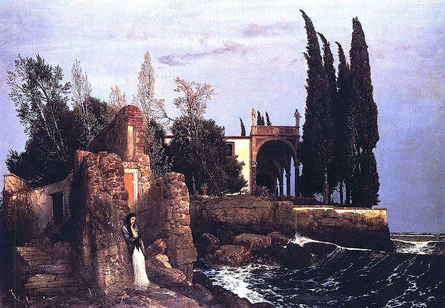 Arnold Bocklin painting 1800s