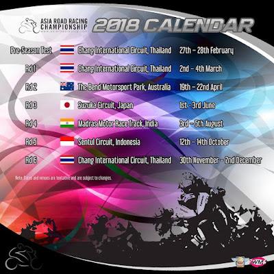 Jadwal Lengkap ARRC 2018