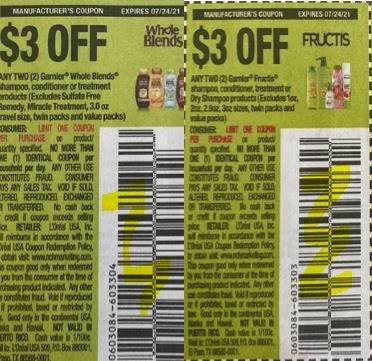 """$3.00/2 Garnier Whole Blends Coupon from """"SAVE"""" insert week of 7/11/21."""