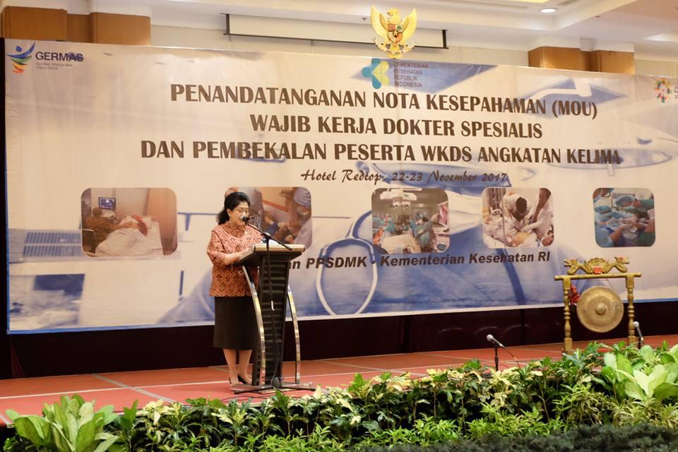 Menteri Kesehatan Republik Indonesia Nila F Moeloek.