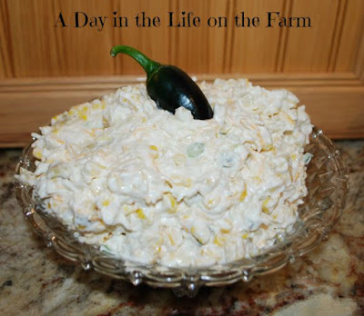 "Featured Recipe | Corn ""Crack"" Dip from A Day in the Life on the Farm #appetizer #tailgating #tailgatefoods #SecretRecipeClub #recipe"