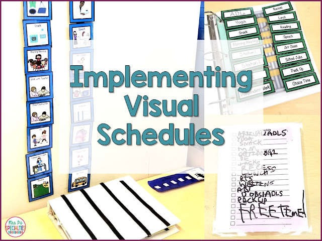 Visual schedules can be a powerful tool for helping students be more successful and independent in their school day. There are many different types and ways to use schedules in your classroom.      Schedules are easily adapted to fit the needs of your student. They can also be used to teach students important concepts such as dealing with change, time concepts and flexibility. Teaching students to use a schedule is a good organizational strategy and can greatly help students who struggle with anxiety.