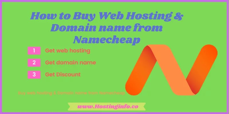 How to buy domain name and web hosting from Namecheap