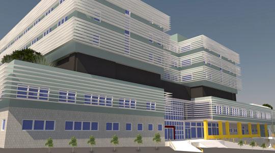 Neues Krankenhaus in Shtip