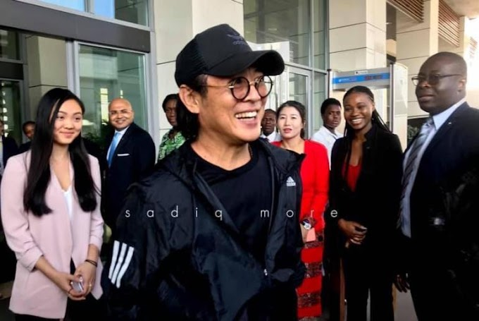 Jet Li Arrives In Ghana For  An Event With Jack Ma