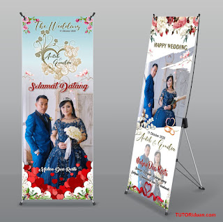 Banner Wedding Free CDR