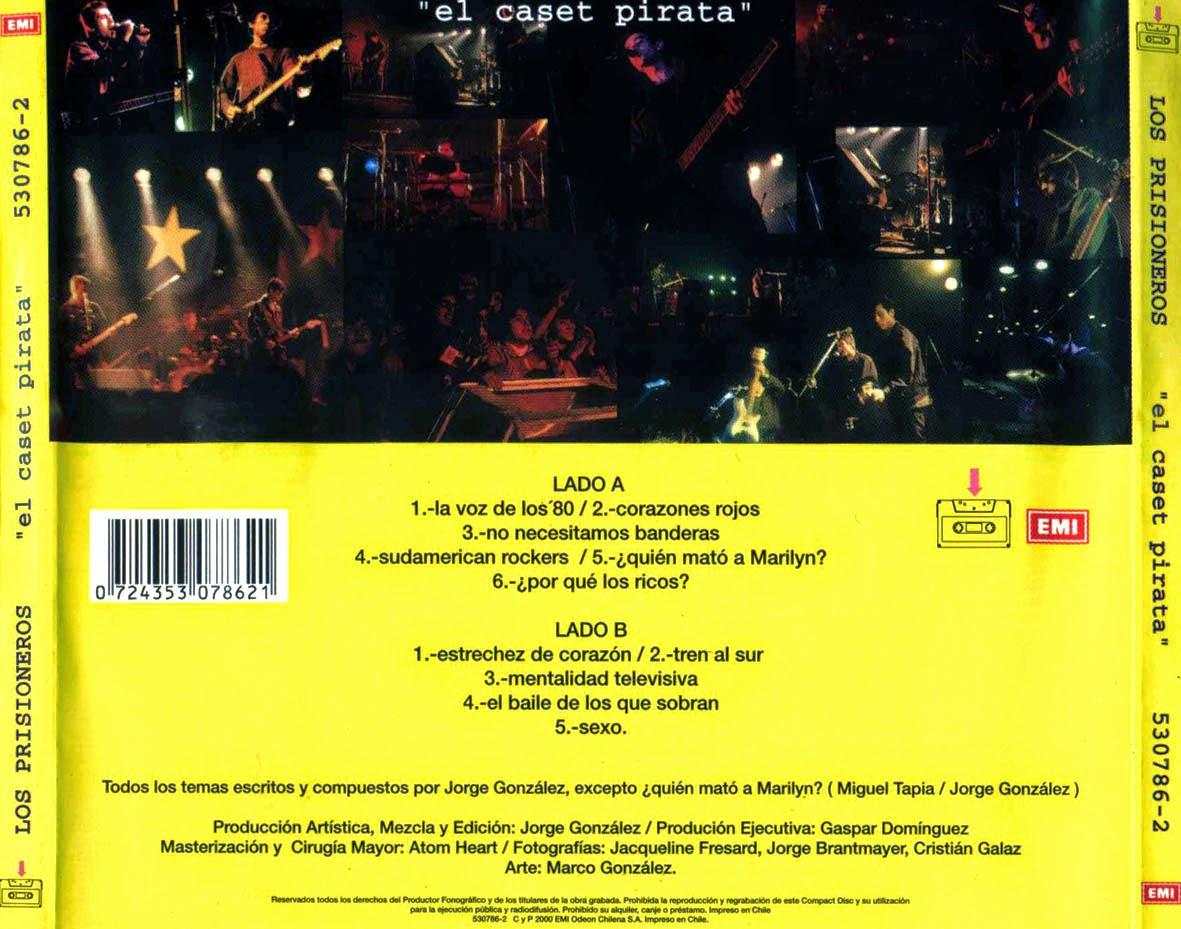 ROCKCHILENOS: LOS PRISIONEROS (el Caset Pirata 2000