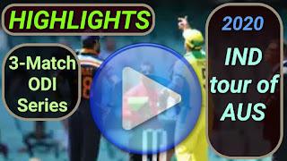 Australia vs India ODI Series 2020