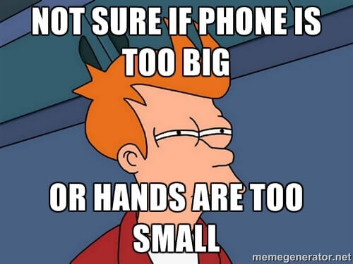 Size of phone