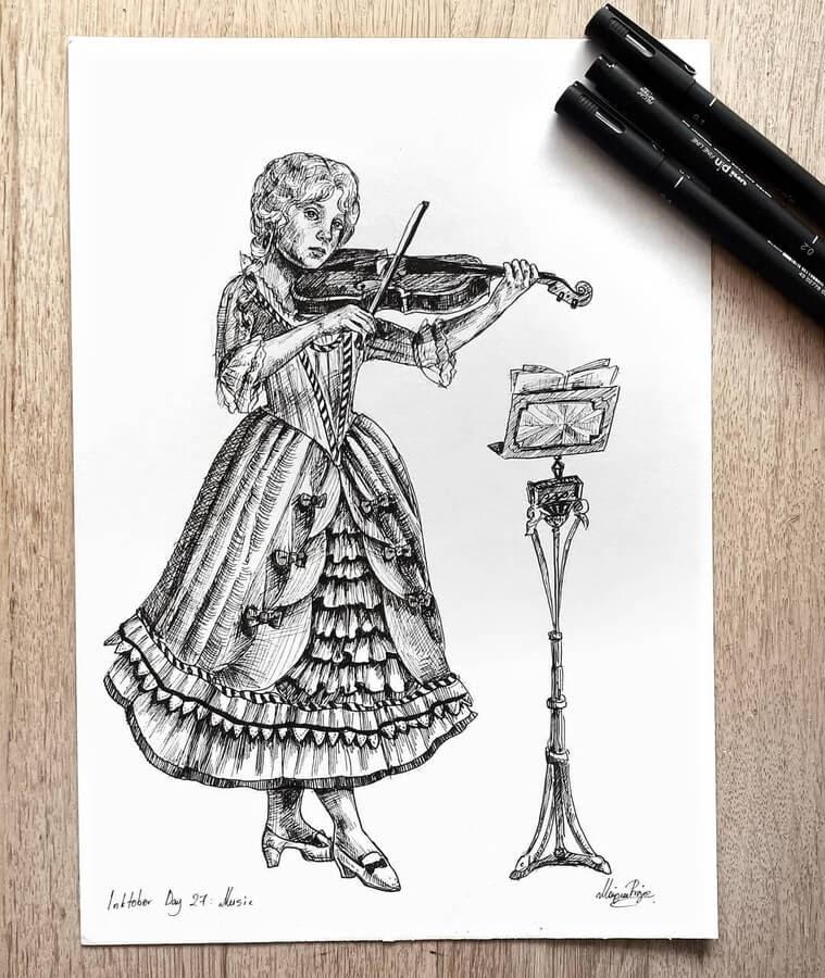 09-Practising-the-violin-Maria-Riga-www-designstack-co
