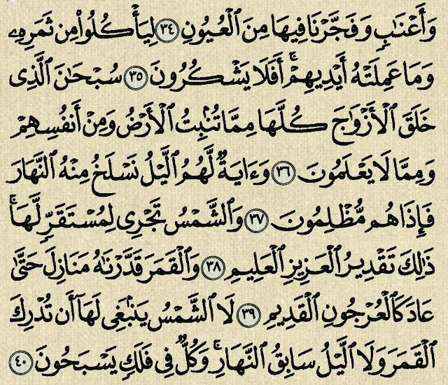 شرح وتفسير سورة يس  Surah Yasin  (من الآية 28 إلى الآية 47 )