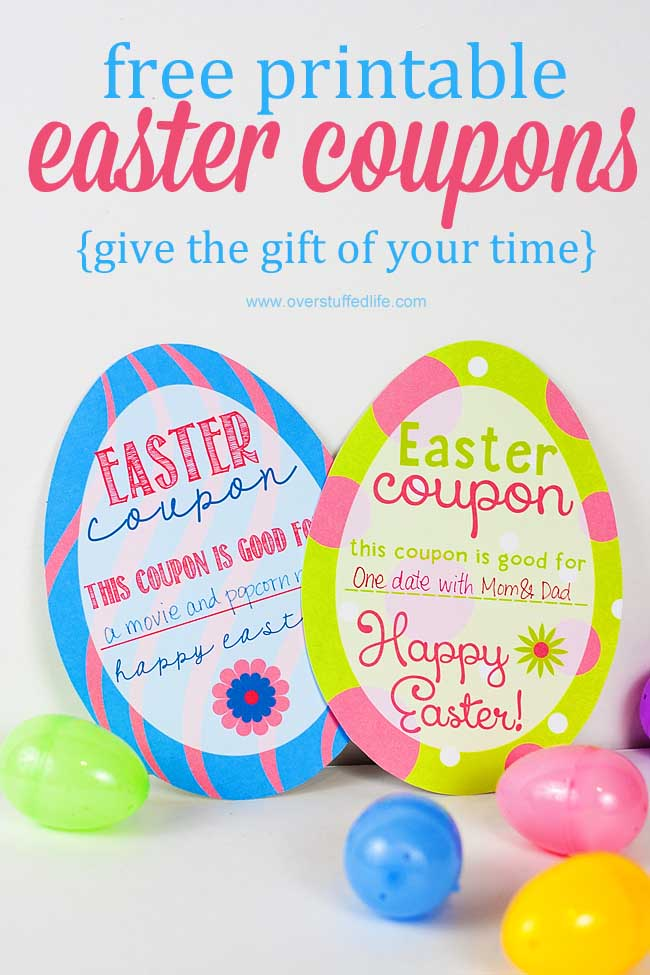 graphic relating to Egg Coupons Printable named Printable Easter Egg Coupon codes - Overstuffed