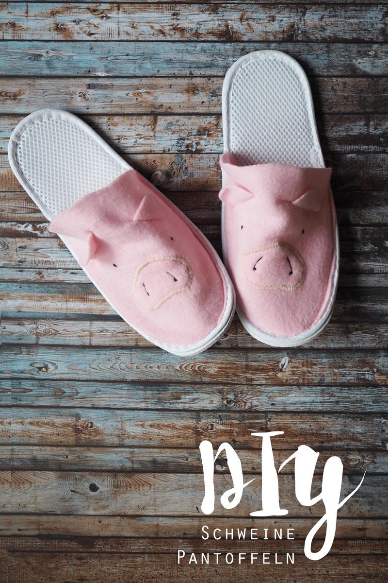 KuneCoco • DIY • Schweine-Pantoffeln • schweinische Hausschuhe