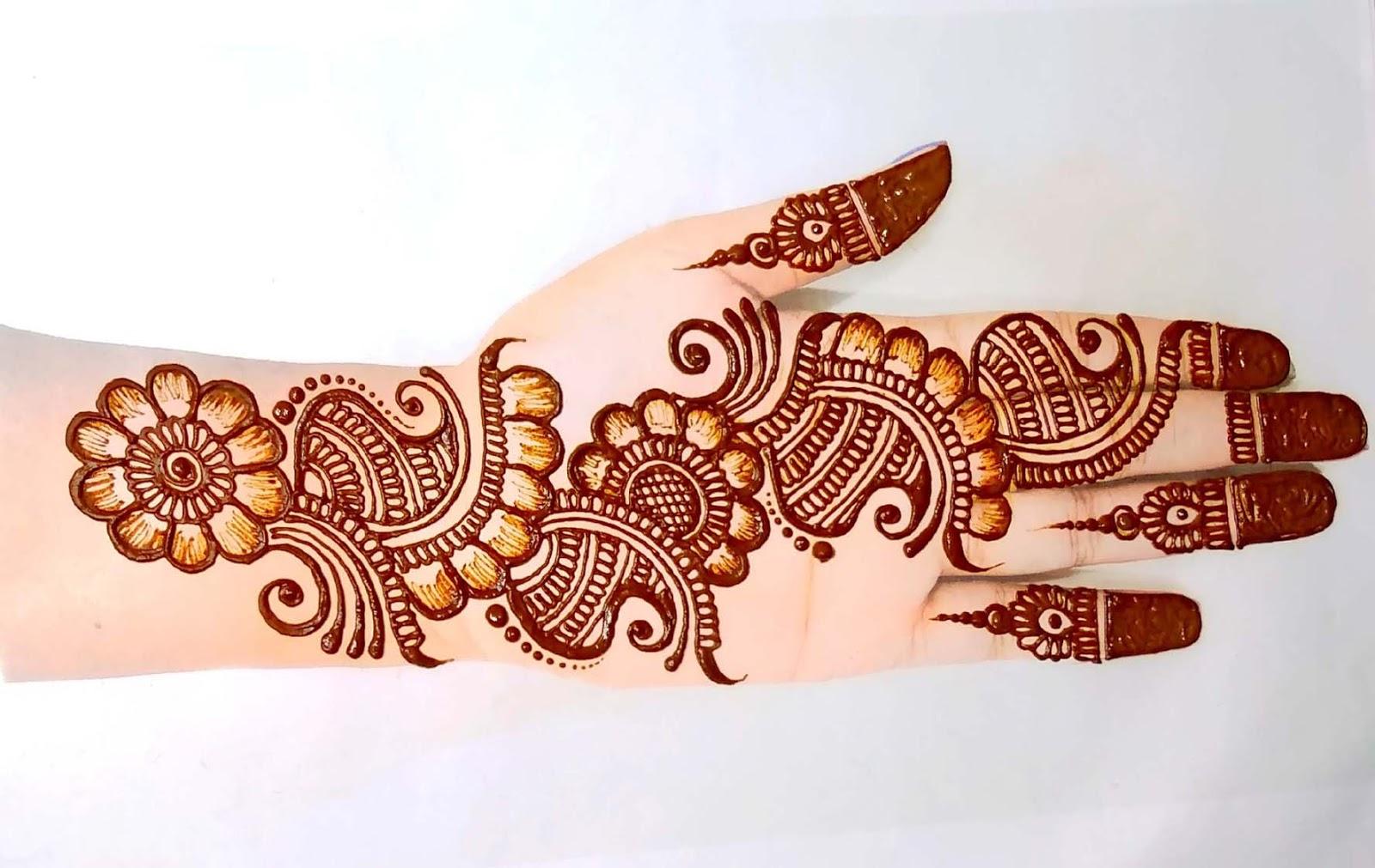 Mehndi Design Front Hand design