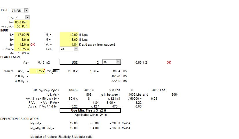 Concrete Beam design [xls] [Excel sheet ] - Civilest The Best Civil