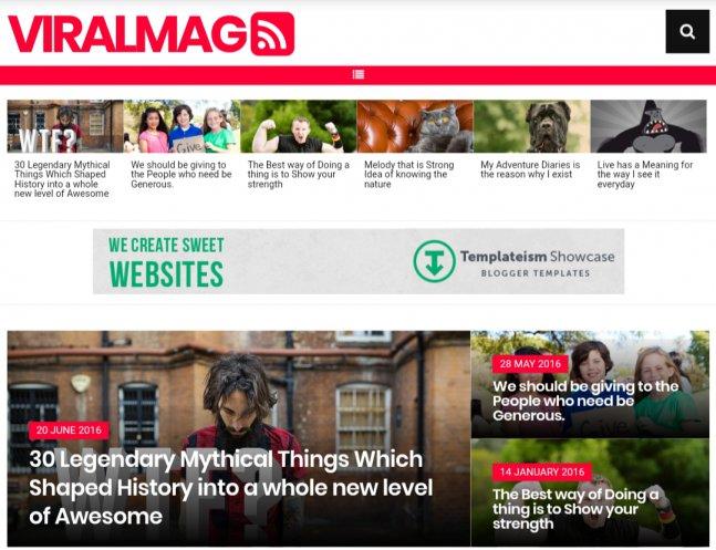 Viralmag-blogger-template