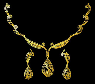 Indian gold necklace design