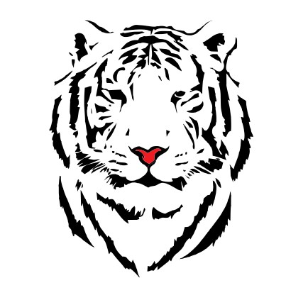 how design logo simple stencil
