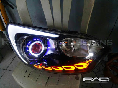 headlamp kia rio custom