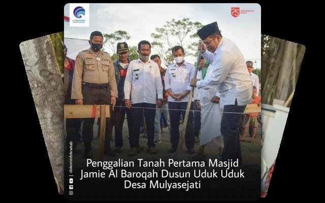 Sekda Karawang Penggali Tanah Pertama Masjid Jamie Al Baroqah
