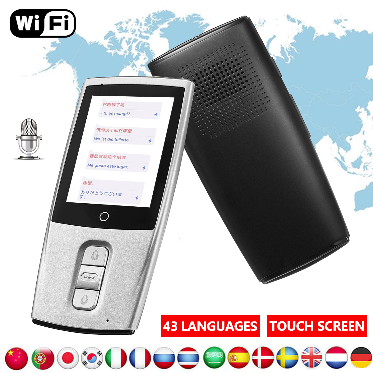 Voice Language Translator Device 43 languages Smart Two Way
