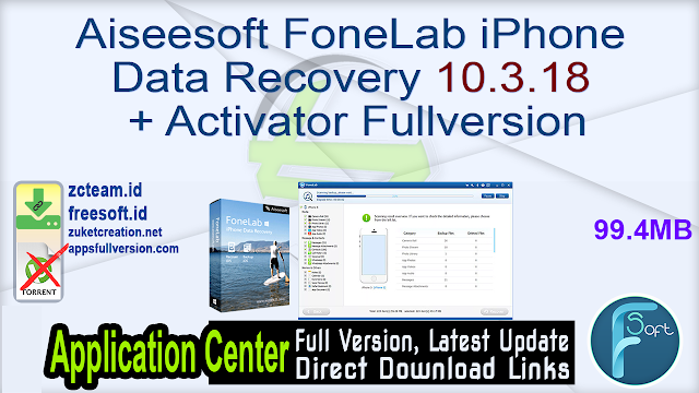 Aiseesoft FoneLab iPhone Data Recovery 10.3.18 + Activator Fullversion