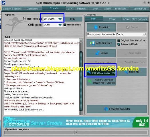 SM-G550T Galaxy ON5 custom binary blocked by frp - Emerlits Gsm Service