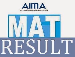 MAT Result Check Online September Exam Cut Off Marks Merit List