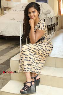 Telugu Actress Karunya Chowdary Stills in Short Dress at ATM Not Working Press Meet  0271.jpg