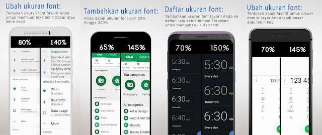 Enlarge Font: Enlarge text, Larger font
