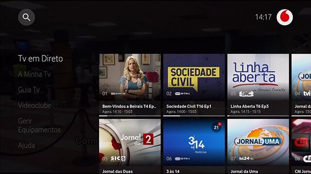Vodafone TV e Boxs Android