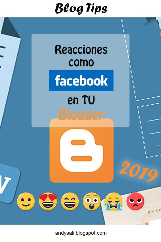 Reacciones como Facebook en TU Blogger