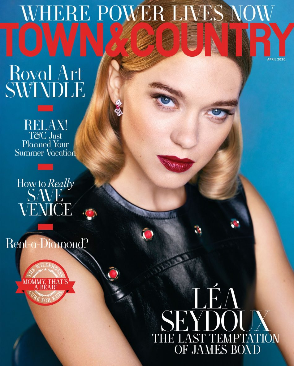 Lea Seydoux – Town & Country Magazine PS by Max Vadukul – April 2020