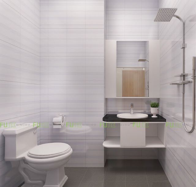 Thiết kế và thi công căn hộ chung cư ~30m2 có gác lửng - Toilet