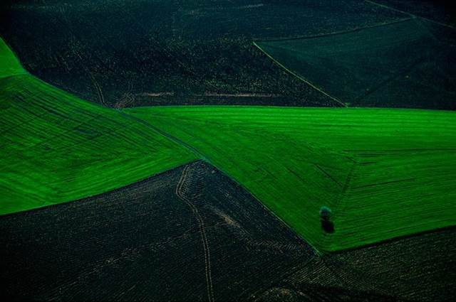 Agricultural Landscape Between Ankara and Hattusha, Anatolia, Turkey