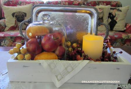 Fall Coffee Table Vignette