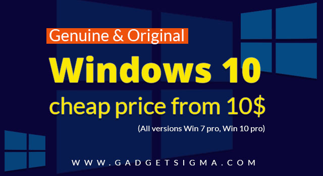 How to buy Genuine Windows 10 & other Versions at cheap price