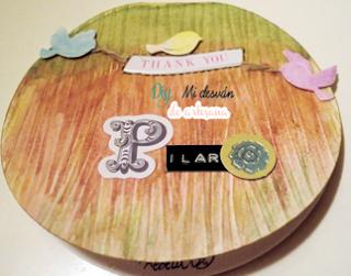 Tarjeta para Pilar en horizontal