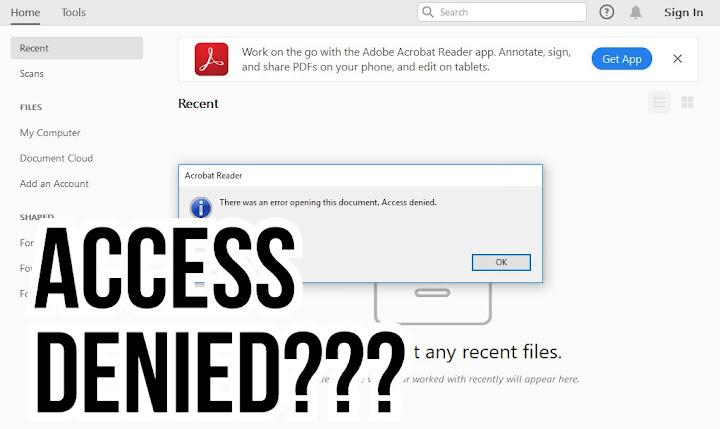 Cara Mengatasi Adobe Reader Tidak Bisa Dibuka - Access Denied