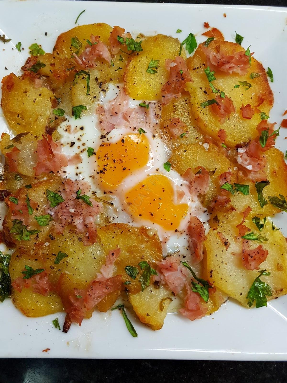 Cocina basica y fresca patatas a lo pobre gratinadas con for Cocinar patatas a lo pobre