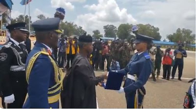 Osinbajo At NAF Passing Out Parade, Honors Female As First Time Best Performing Cadet In Kaduna