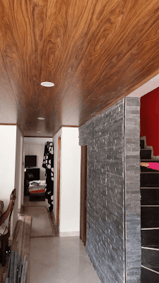 Techos PVC textura madera cedro