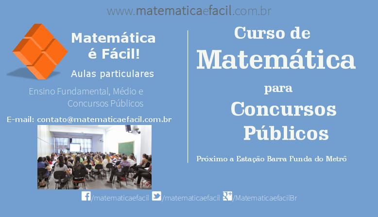 Curso de Matemática para Concursos Públicos em SP