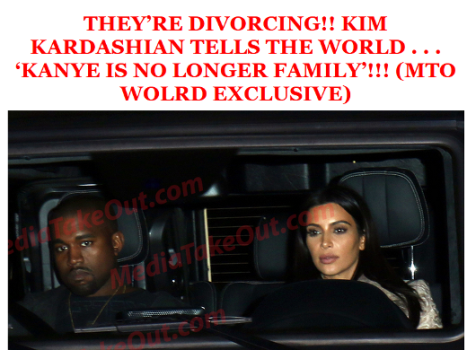 Kim And Kanye Are Divorcing?