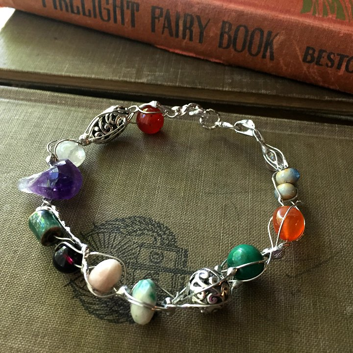 Bejeweled fairy ring bracelets by Laura Beth Love, Emmaus PA.